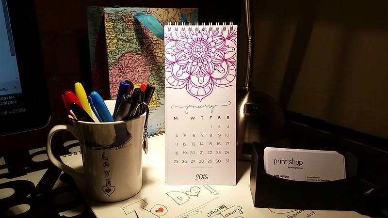 Mandalas Calendar 2016