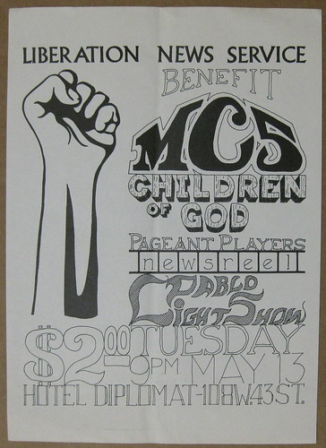 05/13/69 Liberation News Service Benefit /w/ MC5/ More @ Hotel Diplomat, NYC, NY