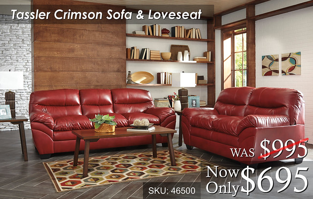 Tassler Crimson Living Set