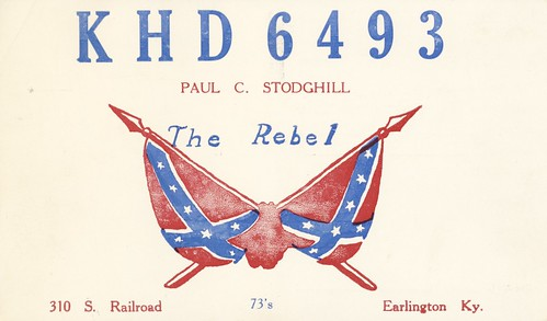 vintage kentucky flag confederate qsl cb cbradio qslcard earlington