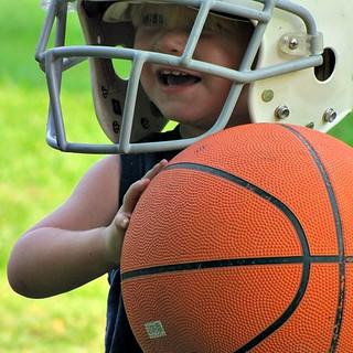 Young sports fan