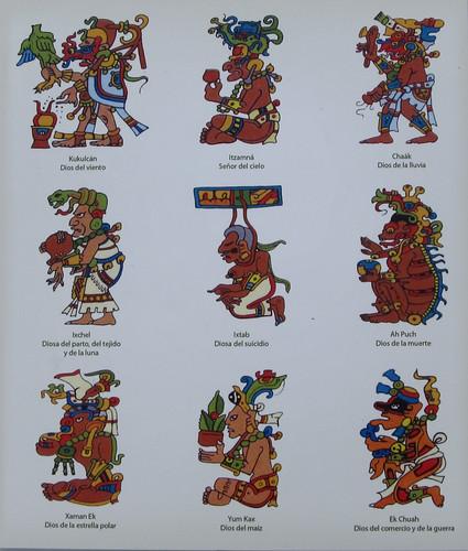 Les ruines mayas de Tulum: certains dieux mayas