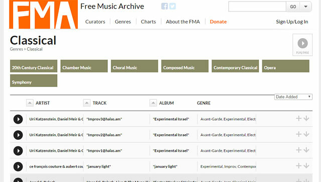 Free music archive - Música para tus videos