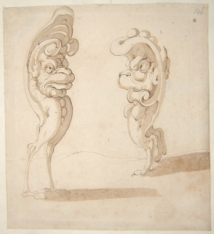 Arent van Bolten - Monster 146, from collection of 425 drawings, 1588-1633