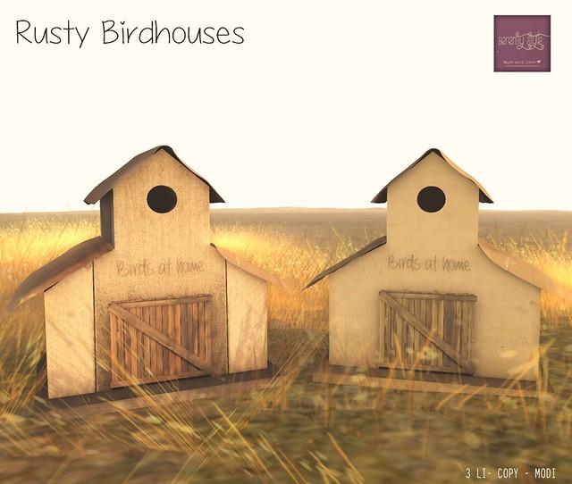 Serenity Style- Rusty Birdhouses