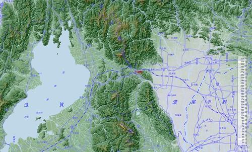 不破関 川だけ地形図