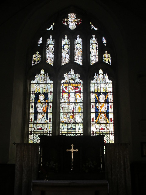 Altar stained glass window, St. Andrew's, Mottisfont