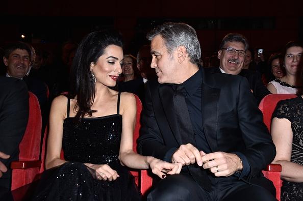 Джордж Клуни в кинотеатре
