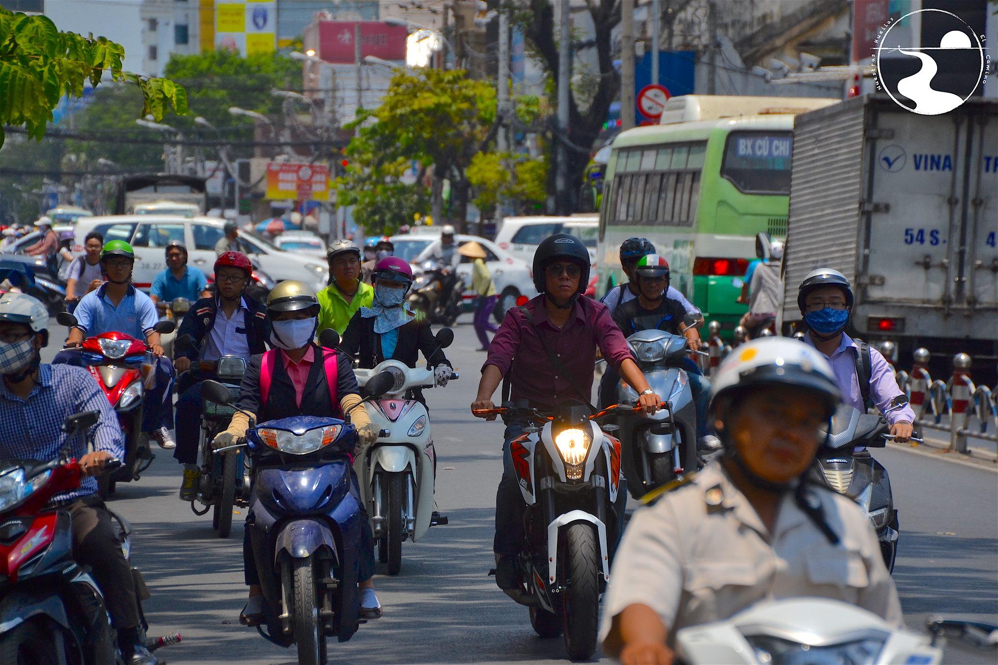 Manada de motos en Saigon