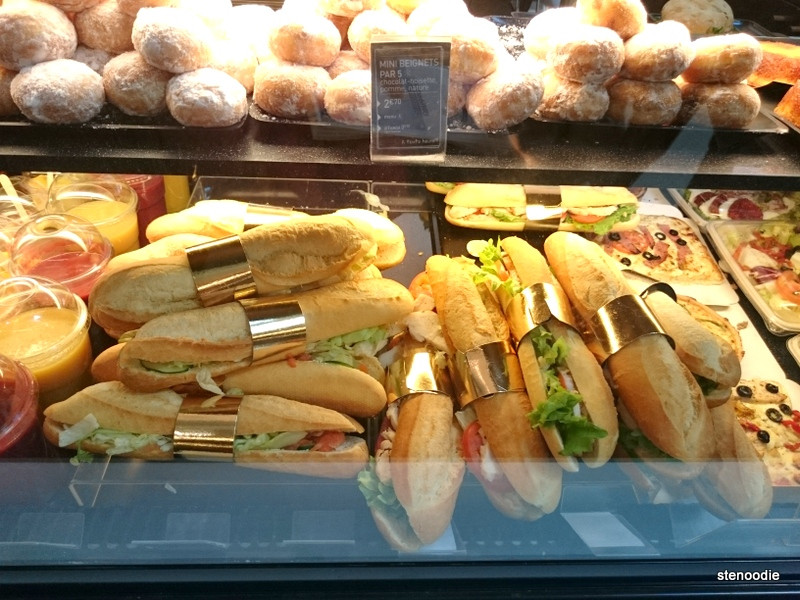 French baguette sandwiches