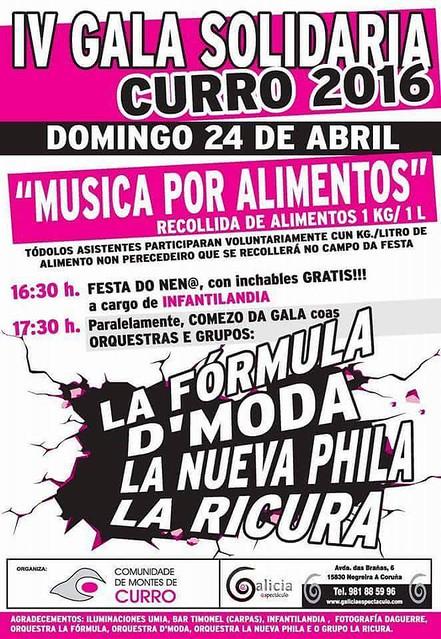 Barro 2016 - Gala Solidaria Música por alimentos en Barro - cartel