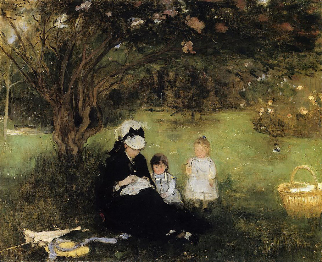 Lilacs at Maurecourt by Berthe Morisot, 1874