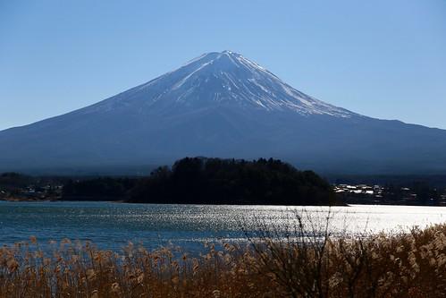 河口湖から富士山2