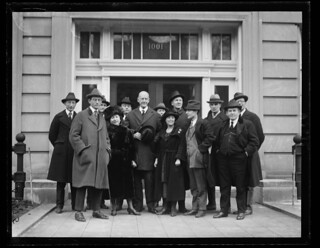 Debs with group outside Dougherty's office: 1921 | by Washington Area Spark