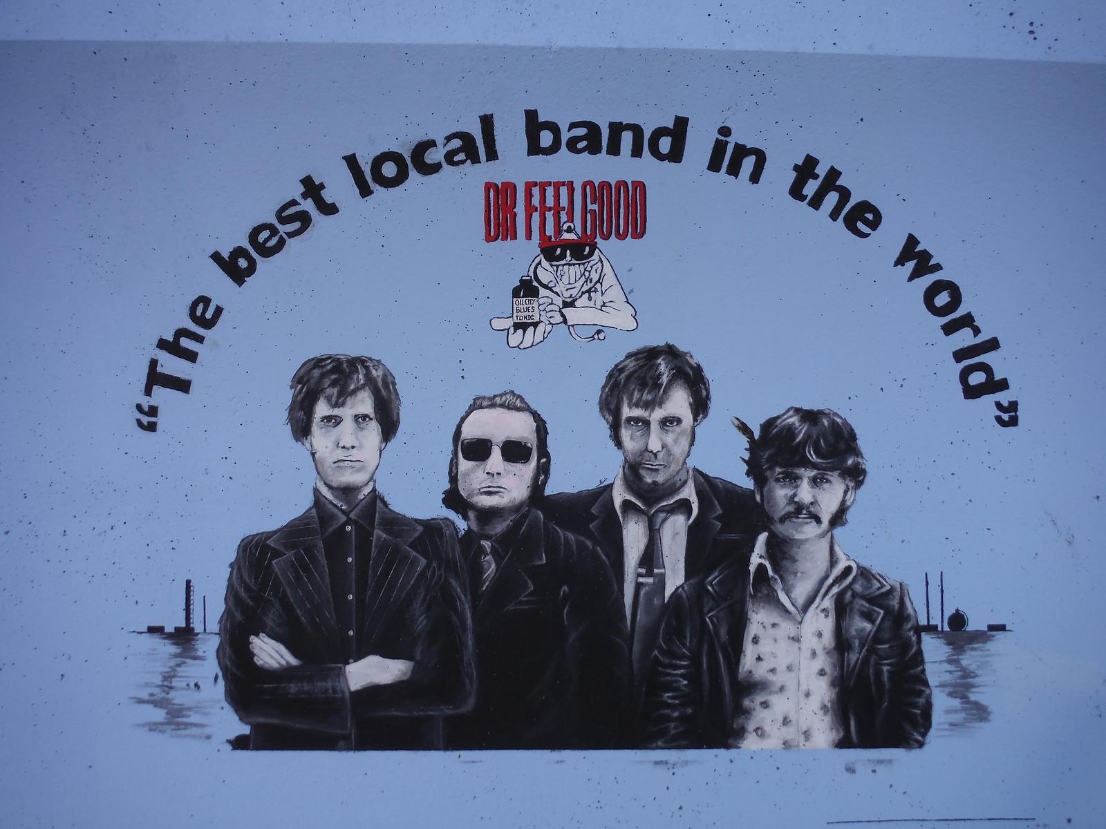 Dr. Feelgood mural, Concord Beach, Canvey Island SWC Walk 258 Benfleet Circular (via Canvey Island)