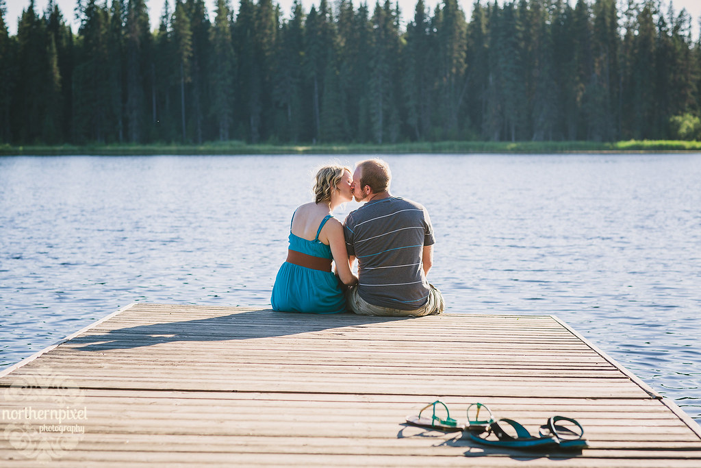 Lakeside Engagement Session - Prince George