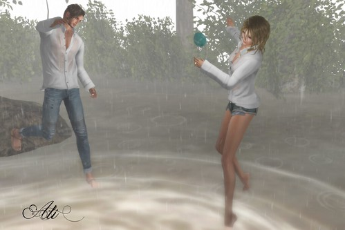 Who doesn't love dancing in the rain?