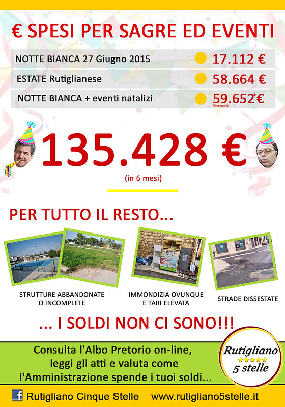 manifesto spese 2016 M5S Rutigliano