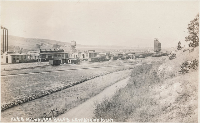 Train yard in Lewistown, Montana