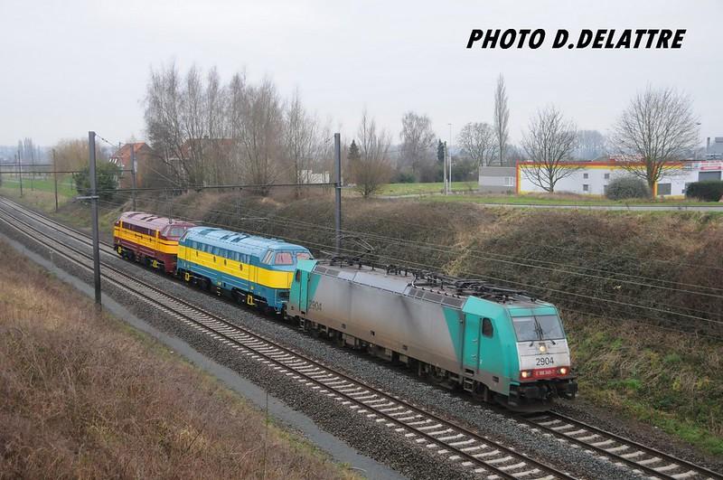 Bombardier 34484 - TRAXX F140 MS - 'E 186 349' - SNCB-NMBS '2904' / Etaimpuis