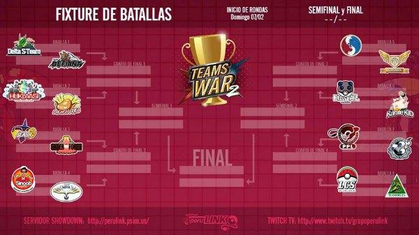 Teams War 2: Vuelve el Torneo Pokemon por Equipos