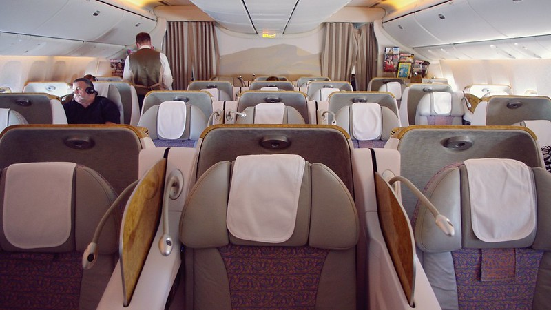 Onboard Boeing 777-300ER Business Class - Emirates