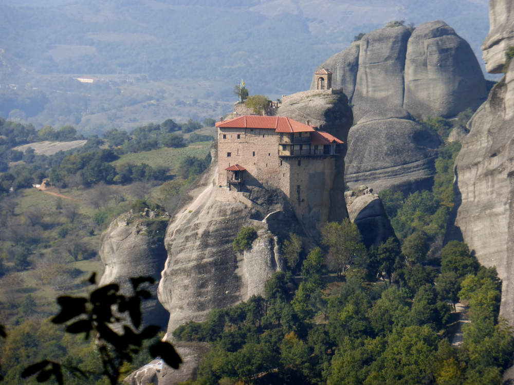 Meteora Monastery on a pillar of stone