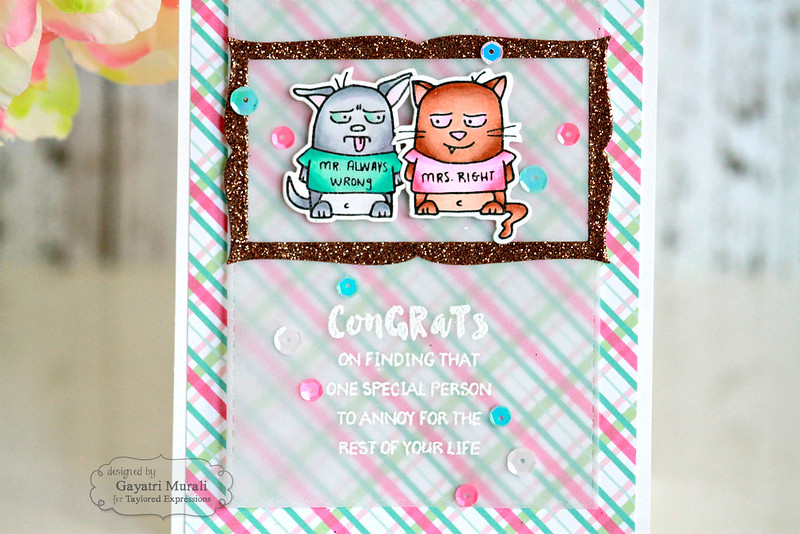 Congrats card closeup