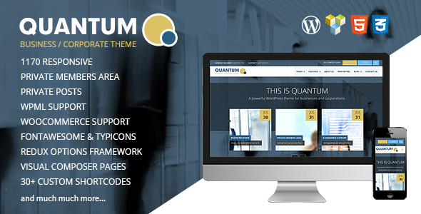 QUANTUM v2.0.1 – Responsive Business WordPress Theme