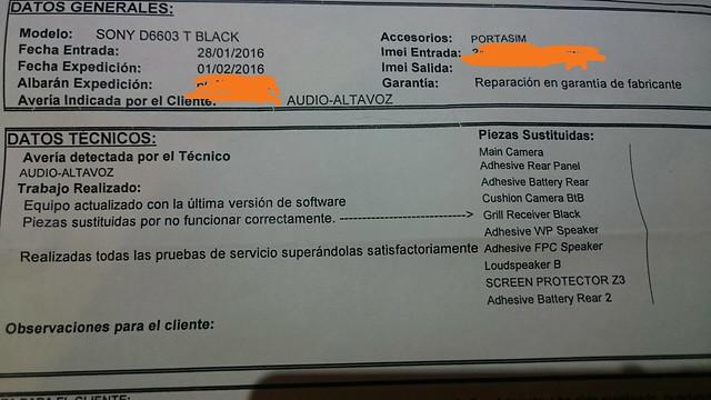Consulta Reparación del Sony Xperia Z3 [Archivos] - HTCMania