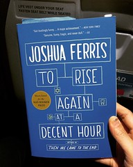 Another long line. Seventh plane in line. Had time to snap this one. #reading #joshuaferris #delayedflight #Manila