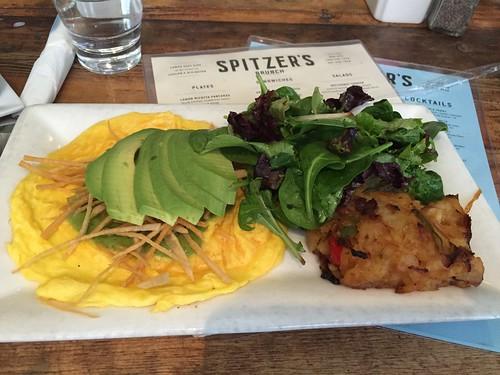 Spitzer's avocado omelet