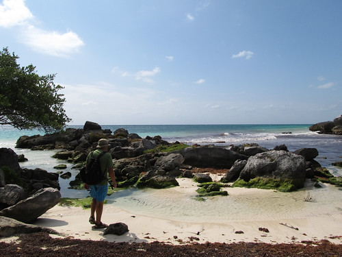 Tulum: petite crique près des ruines