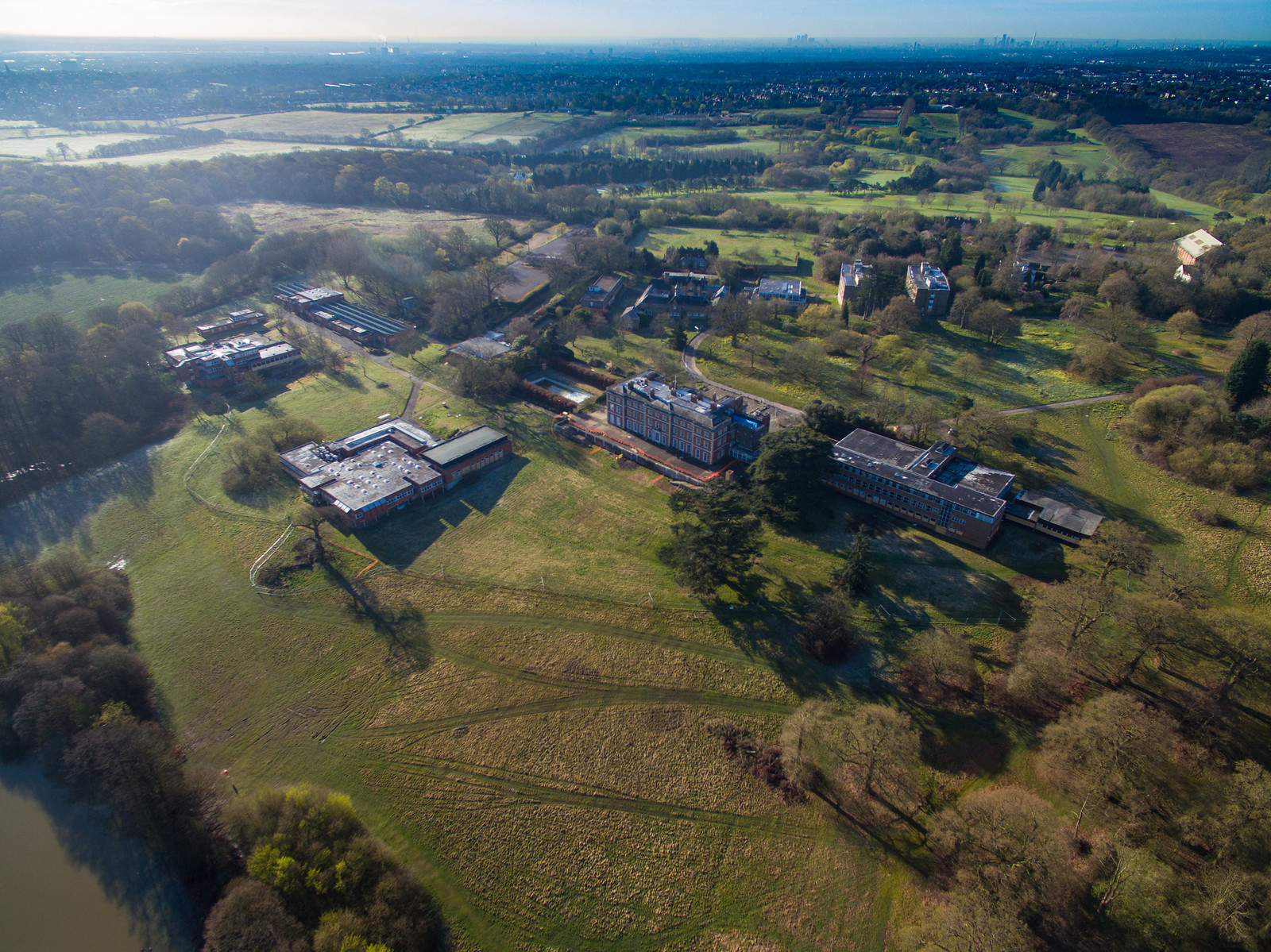 Trent Park Campus from the Air