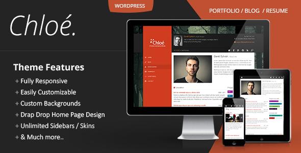 Chloe v1.2.1 - Personal Portfolio WordPress Theme