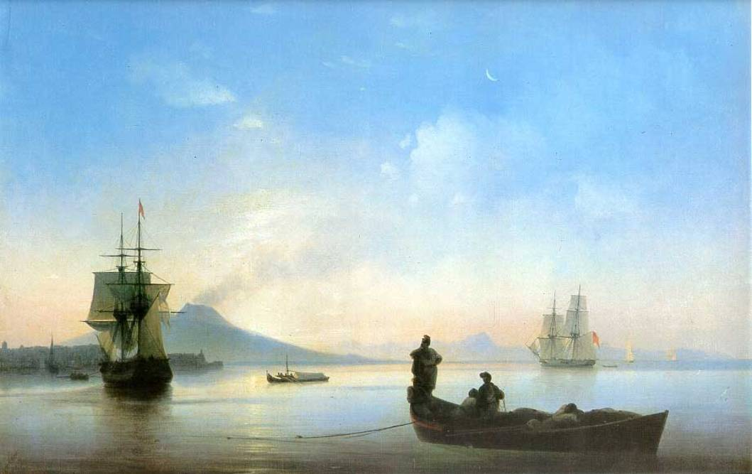 The Bay of Naples in the morning by Ivan Aivazovsky, 1843