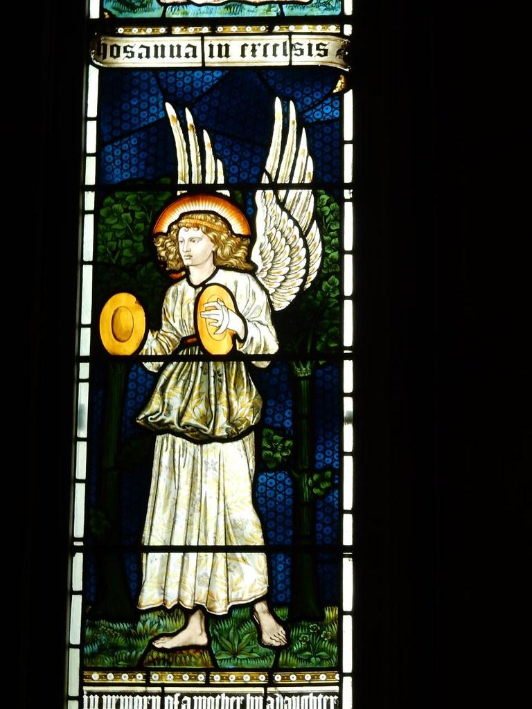 Pre-Raphaelite Angel Ashurst to Eridge St Mary's church, Speldhurst