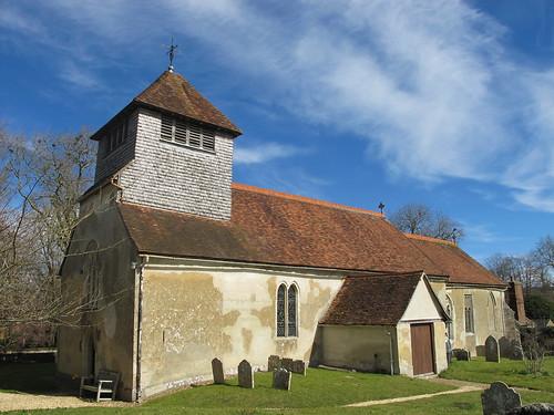 St. Andrew's, Mottisfont, from churchyard