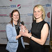 Secondary School of the year winner with Joanna Marshall