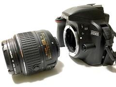 Nikon D3300 with kit lens