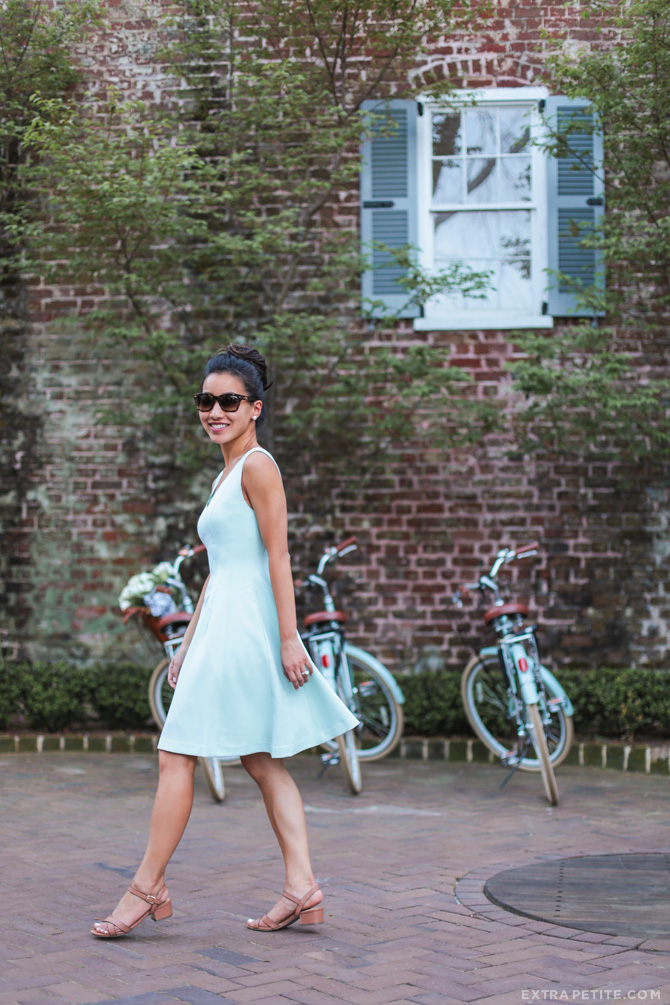 mint green dress spring garden party wedding outfit
