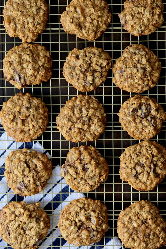 Classic Oatmeal Cookies with dark chocolate and ginger (5)