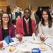 Samantha De Melim(left), Nate Lewis, and Marina Marroquin enjoying the MLK Awards Luncheon.