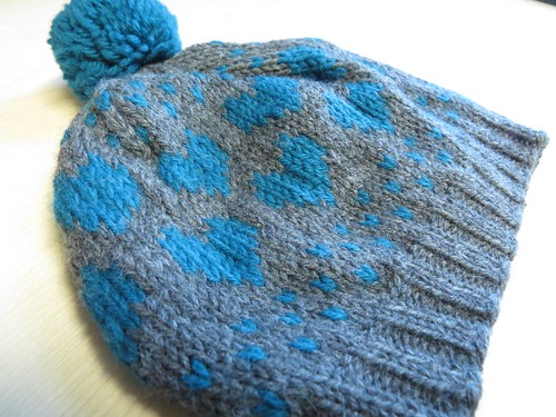 Teal Hearts Toque
