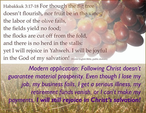 Habakkuk 3 17-18 plus modern application