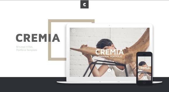 Creativemarket Cremia – Portfolio HTML