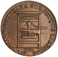 1794 Printing press medal