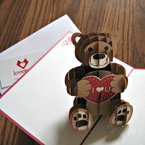 LovePop Cards - Valentine Bear