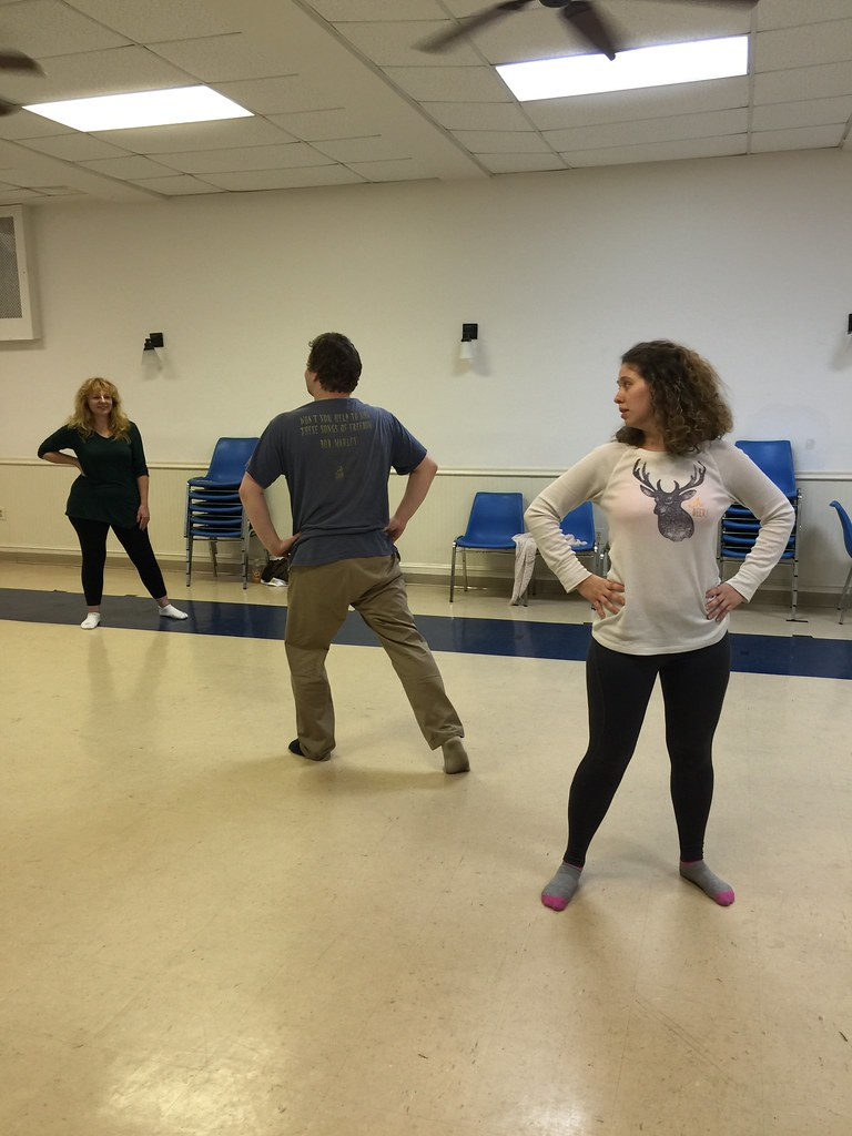 <p>Work in Progress - discovering lots of movement possibilities, communications, relationshipsunder a talented eye of our director, Joe Martin</p>