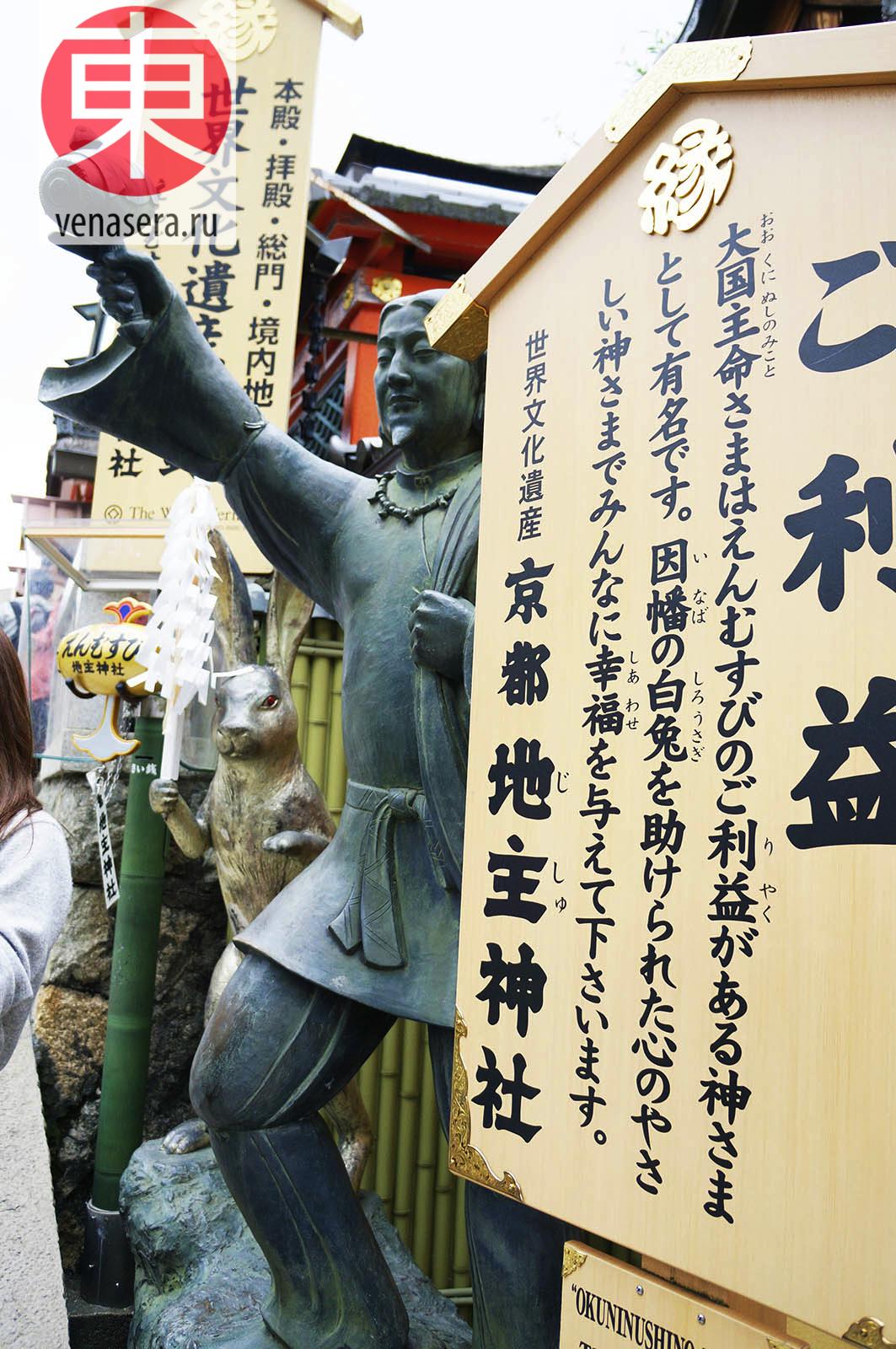 Святилище Оконинуси-но-Микото, 奥に主命, Храм Киёмидзу-дэра в Киото, 清水寺, Киото, Kyoto, 京都, Япония, Japan, 日本.